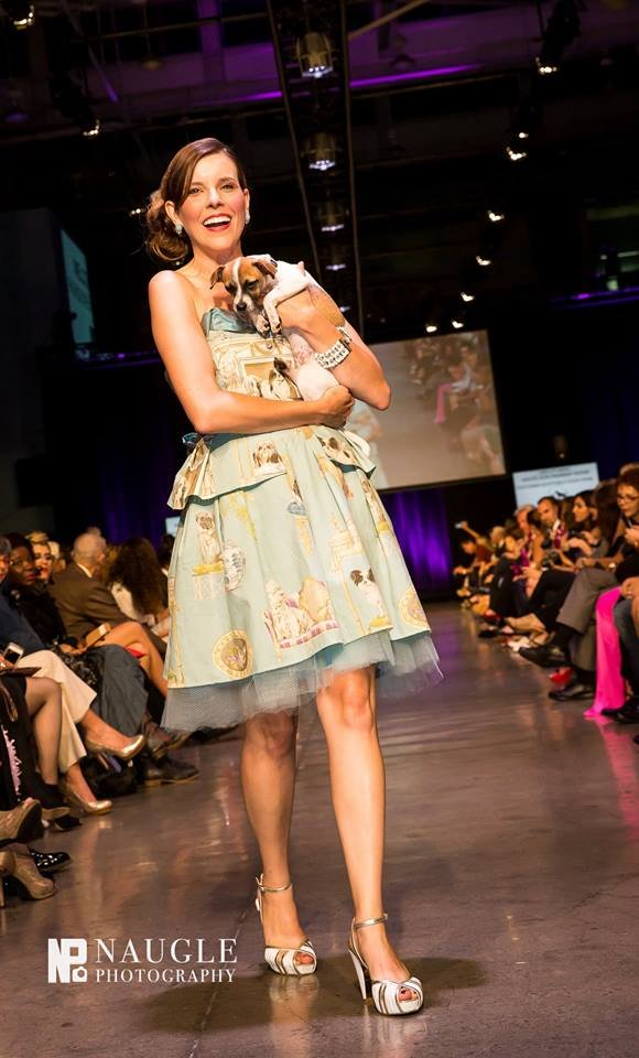 Allison Andrews wore a dress from the  Lady Lane 2015 collection