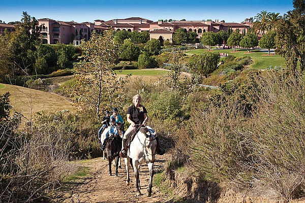 Horse trail in a canyon near the Grand Del Mar