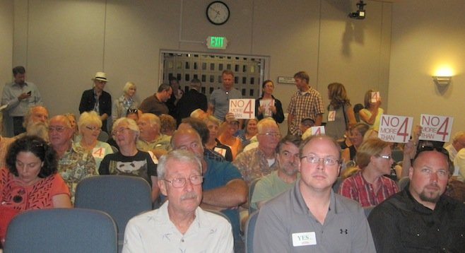 At the October 1 Park Station hearing in La Mesa