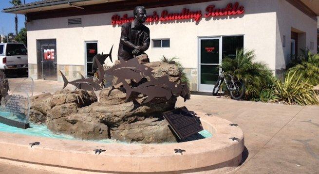 Statue outside Fisherman's Landing Tackle