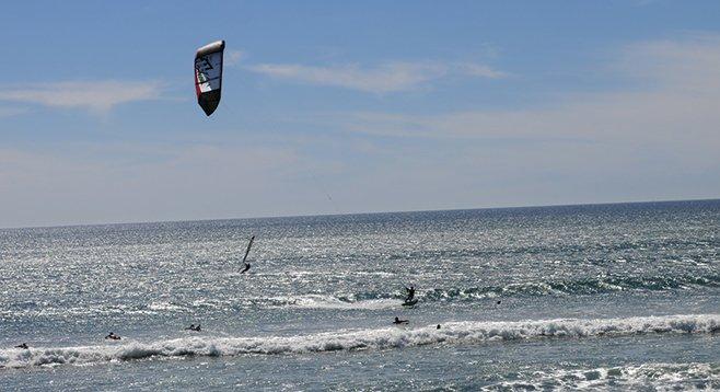 Kite-surfer at Tourmaline - Image by Joel Kriger