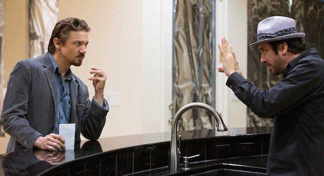 Michael Cuesta directs Jeremy Renner in a scene from Kill the Messenger.