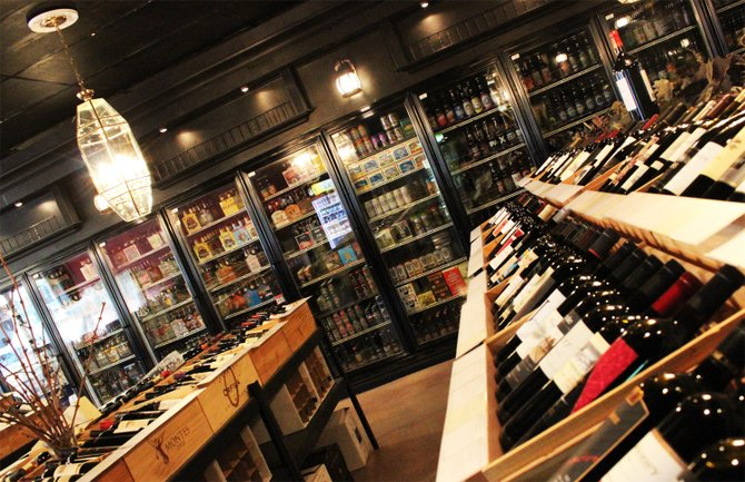 The recently renovated Bine & Vine bottle shop in Normal Heights