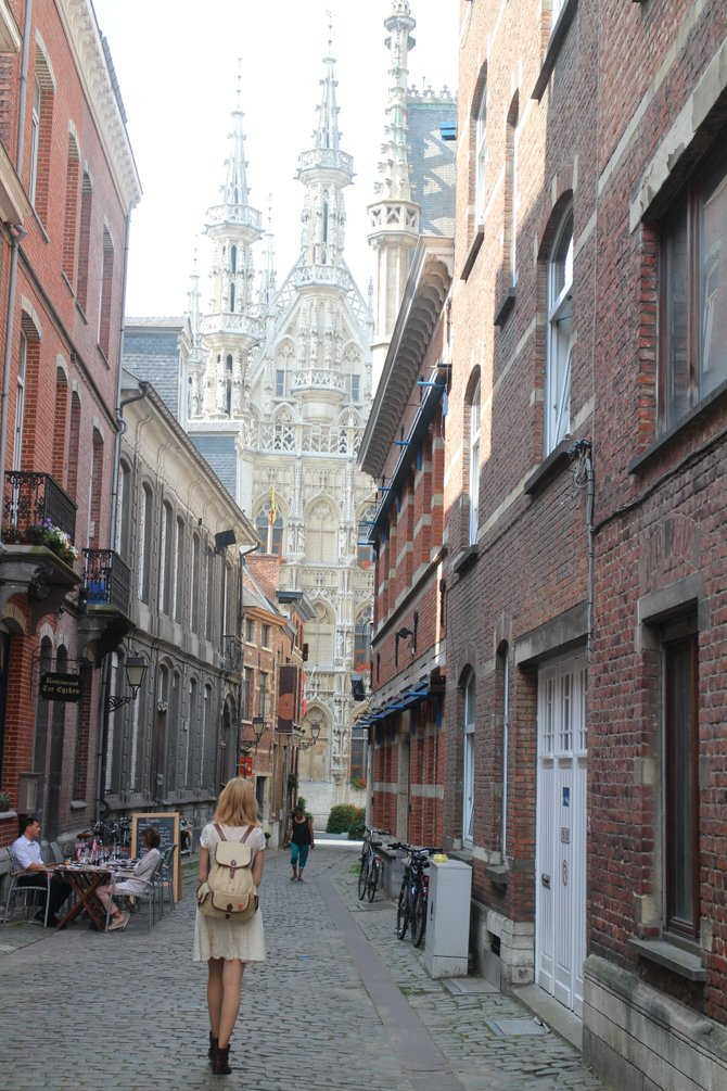 It's only a short stroll from local brewery Domus to the famous gothic city hall of Leuven, Belgium