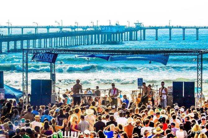 The Beach and the Band in Ocean Beach, San Diego, California