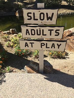 Signage in Borrego Springs.