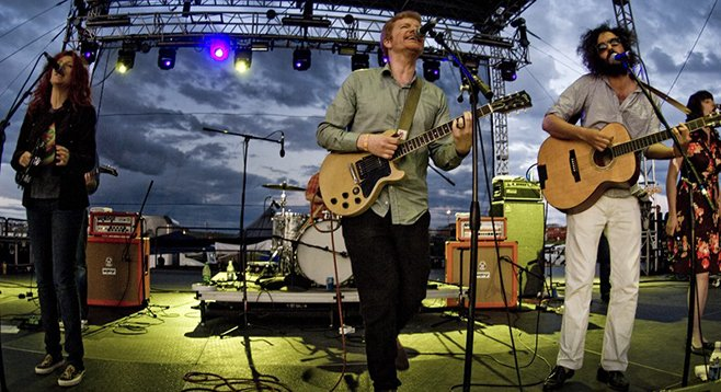 Indie-rock Canada band New Pornographers, touring in support of their excellent new record, Brill Bruisers, play the North Park Theatre Saturday night!