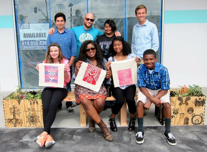 High Tech High media arts director Joshua Krause and his students contributed work to the reactivated Boulevard Center.
