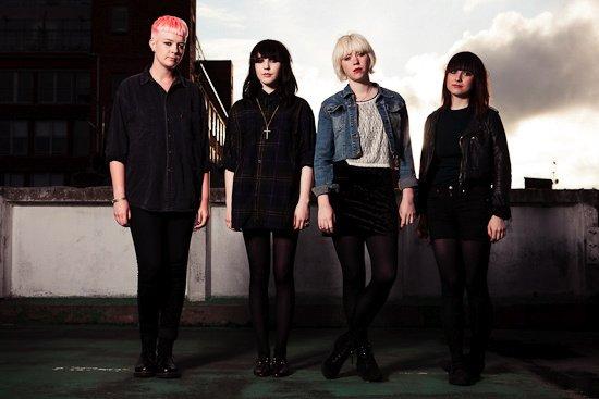 She-punk British band Pins plays the Hideout Sunday night.