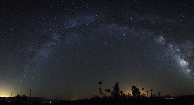 """During the pre-dawn hours of June 5, 2013, the Milky Way arched over one of many impressive metal sculptures scattered around Borrego Springs. The power to the town was out, making this """"Dark Sky Community"""" even darker than normal.©Dennis Mammana/dennismammana.com"""