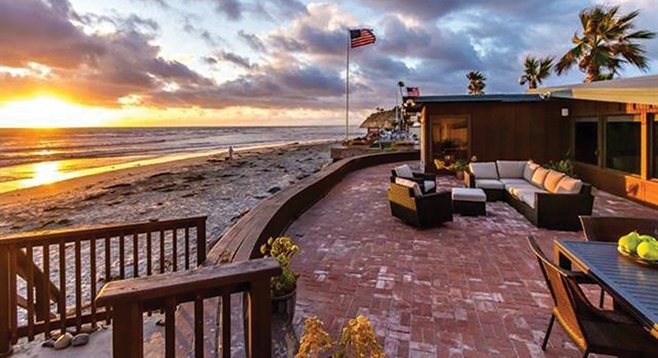 """This Del Mar home, """"an original Russell Forester built in 1950,"""" is """"still relevant for today's beach front living,"""" according to the sales pitch."""