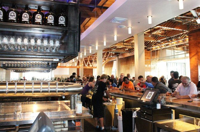 The bar at Ballast Point Brewing & Spirits' new tasting room in Miramar - Image by @sdbeernews