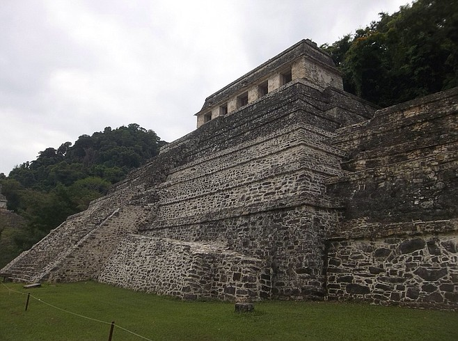 Temple of the Inscriptions, one of the largest structures of the ancient Maya world.