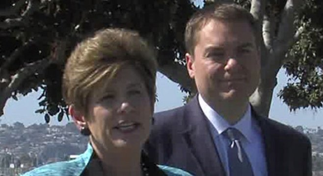 Bonnie Dumanis and Carl DeMaio