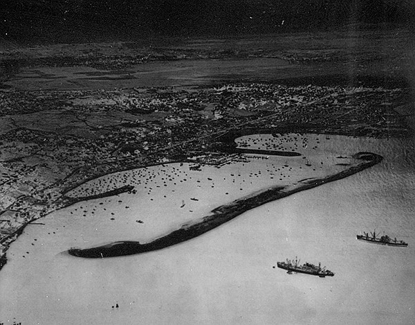 Shelter Island, 1948. Before the dredging of the bay, it was truly an island.