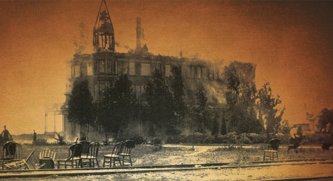 The South Pacific Hotel  in Oceanside burned down on June 13, 1896.