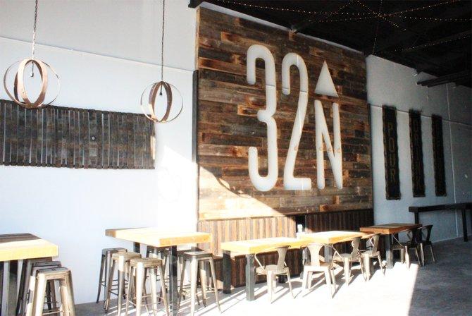 Interior of 32 North Brewing Company