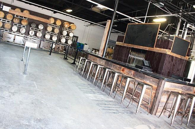 The interior at Miramar's 32 North Brewing Company