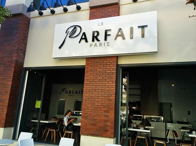Le Parfait Paris' as seen from the street