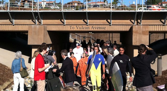 Opening of underpass accessing Swami's beach, 2012