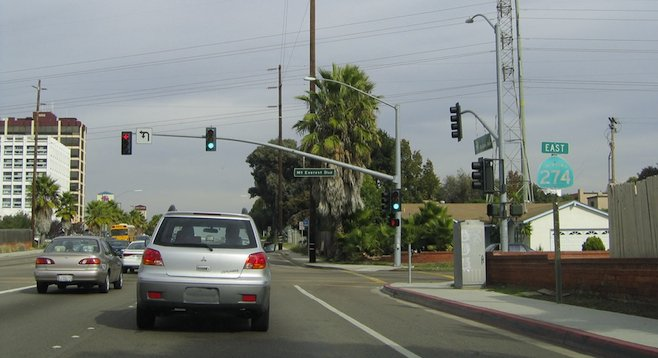 An SR-274 sign remaining in Clairemont
