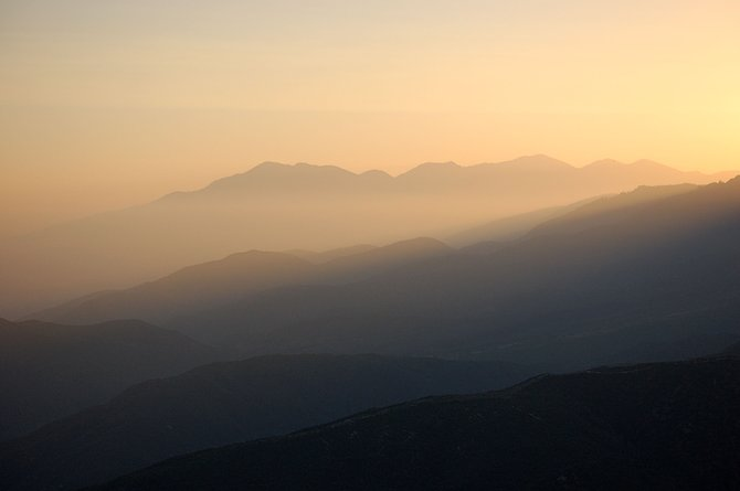 MYSTIC MOUNTAINS... DUSK IN EAST COUNTY