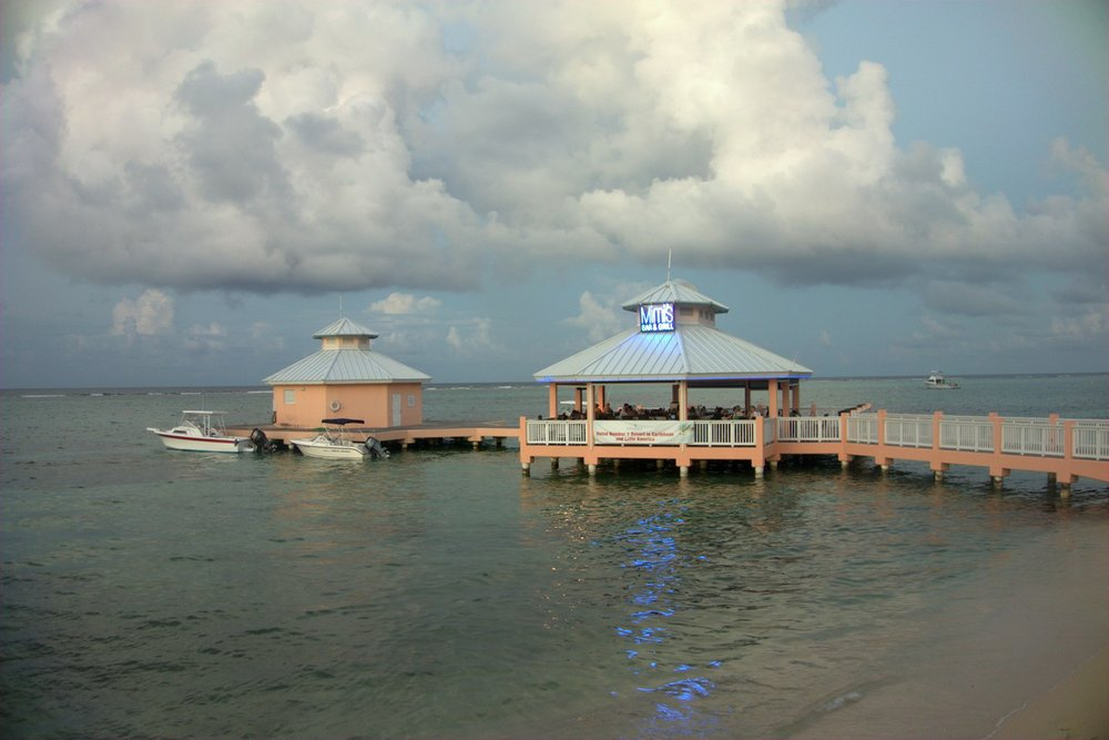 """Mimi's Dock Bar at Morritt's on Grand Cayman, the """"only dock bar in the Cayman Islands."""""""