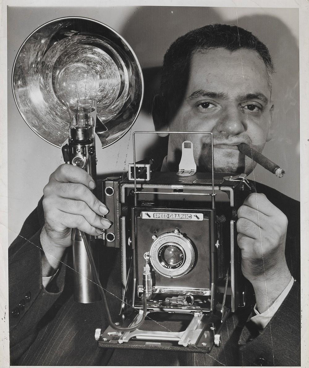 "Influential street photographer, Arthur ""Weegee"" Felig."