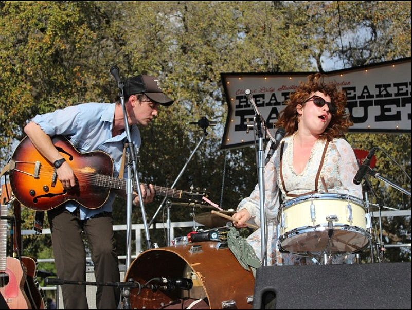 Husband and wife folk-rock duo Shovels & Rope play Belly Up on Wednesday.