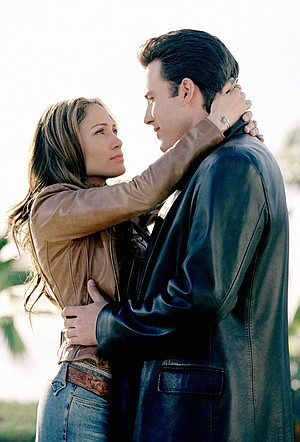 "Ben Affleck and ""what's-her-name?"" in Gigli."