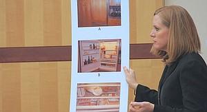 Prosecutor Rachel Solov w photo evidence.