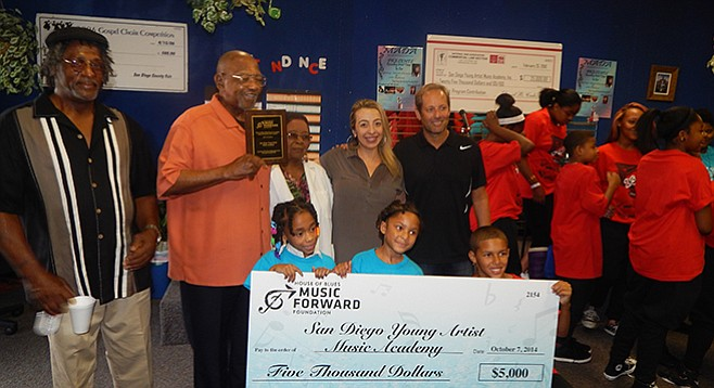 House of Blues ponies up a big check for an after-school program.