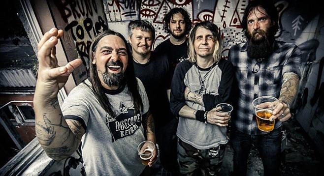 Sludge-metal band Eyehategod slings it at the Soda Bar Friday night!