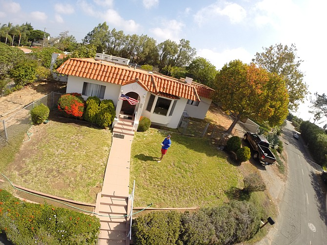 Do you know this house? Shot from a GoPro equipped drone that has been found in the ocean one year later.
