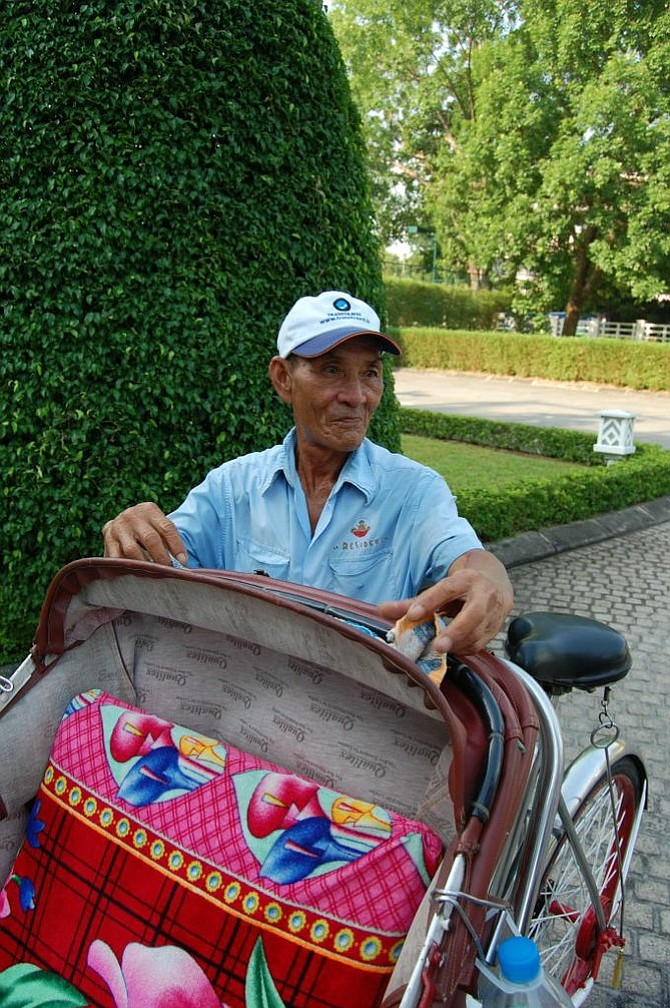 My sturdy cyclo driver Thảo was in the Viet Cong during the Tết Offensive.