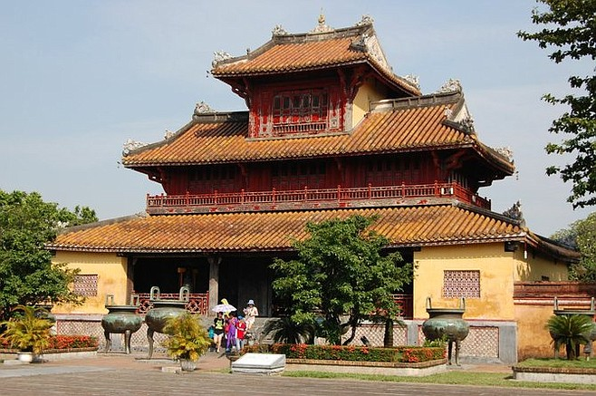 Pagoda inside Huế's astounding Citadel, an elaborate royal compound that's now a UNESCO World Heritage Site.
