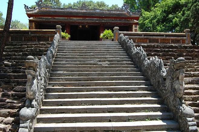 Dragon staircase at Tu Duc Tomb, near Huế.