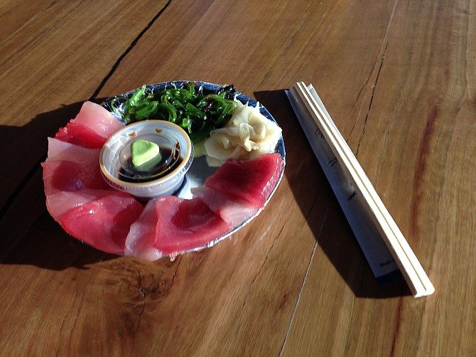 My favorite little sashimi plate from El Pescador seldom disappoints.
