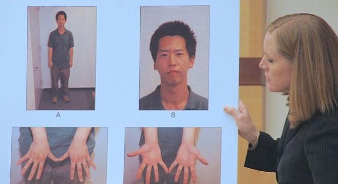 Photos taken of Bryan Chang upon his arrest