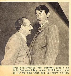 Was Groucho relieved when informed by Schuyler Green there were no restricted hotels in La Jolla? You bet your gentleman's agreement!