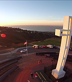 It's all about perspective with this shot of Mt. Soledad at Sunset.