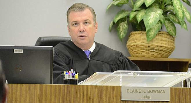 Judge Blaine Bowman decried another young life lost to a gang. Photo by Eva