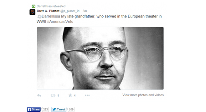 Issa (or a staffer) didn't recognize the photo of Nazi commander Heinrich Himmler