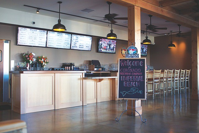The walk-up service counter at Coronado Brewing Company's Imperial Beach bar and restaurant