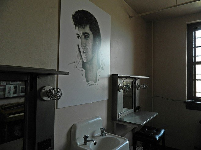 Elvis' dressing room at the Shreveport Municipal Auditorium.
