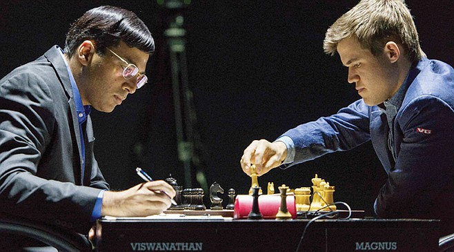 The World Chess Championship is upon us, sports fan, like Frazier/Ali all over again but not really.