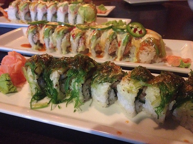 A row of rolls, Sushi Deli 3