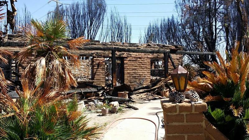 Saska's house after the fire