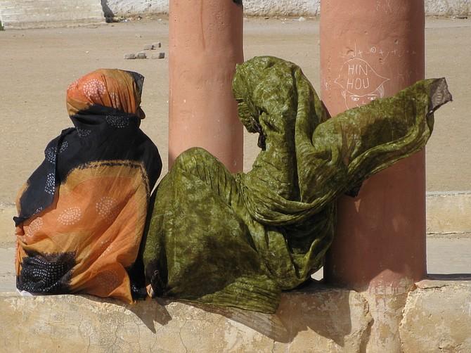 Two school girls in Morocco