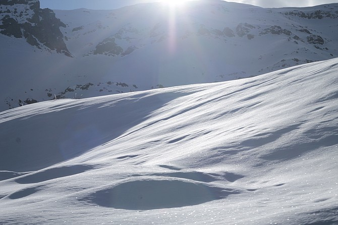 Snowy mountain near Santiago.
